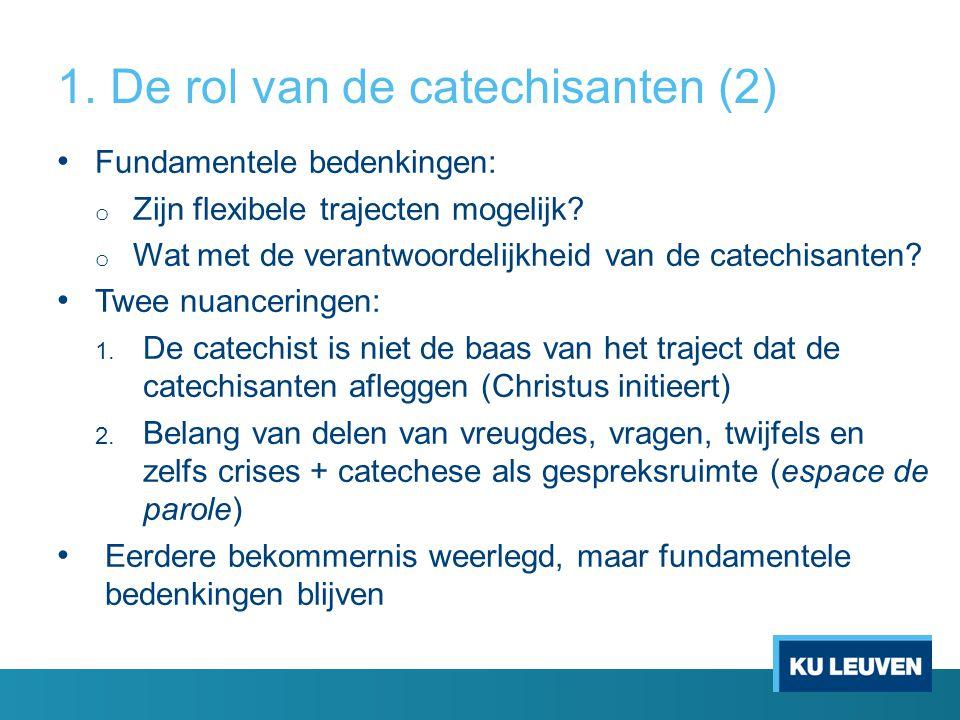 1. De rol van de catechisanten (2)