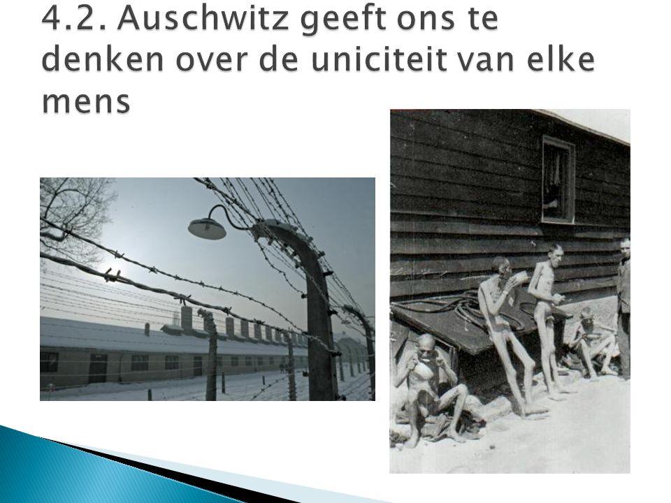 4.2. Auschwitz geeft ons te denken over de uniciteit van elke mens