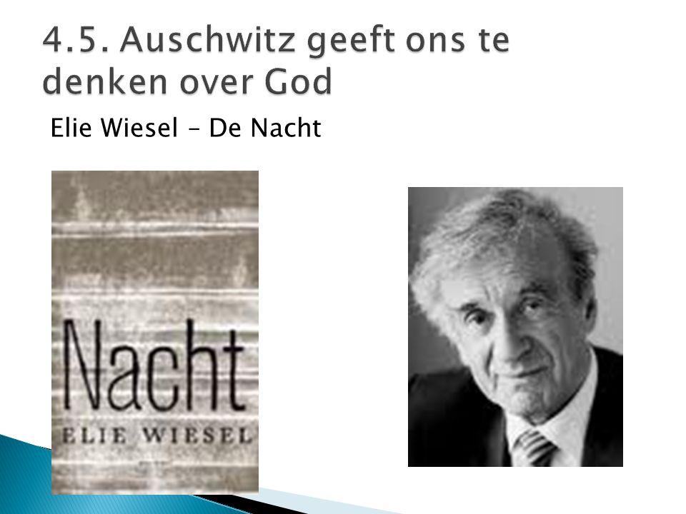 4.5. Auschwitz geeft ons te denken over God