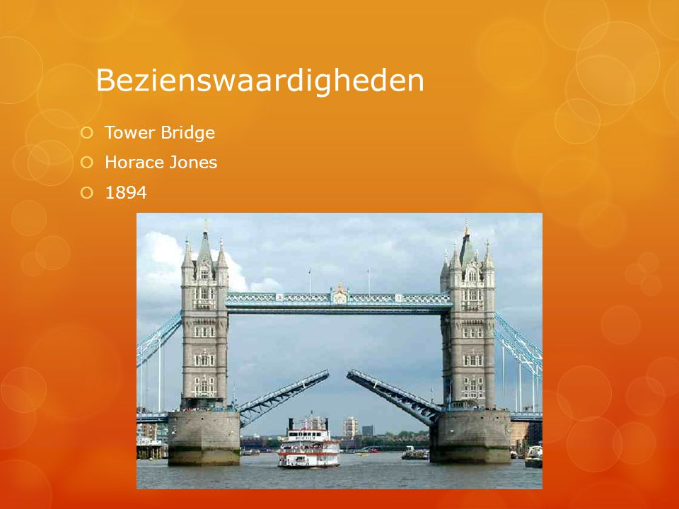 Bezienswaardigheden Tower Bridge Horace Jones 1894
