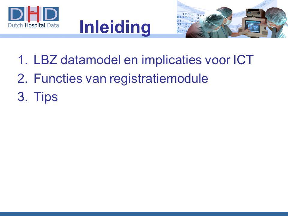 Inleiding LBZ datamodel en implicaties voor ICT