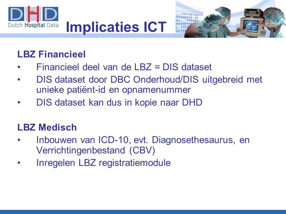 Implicaties ICT LBZ Financieel