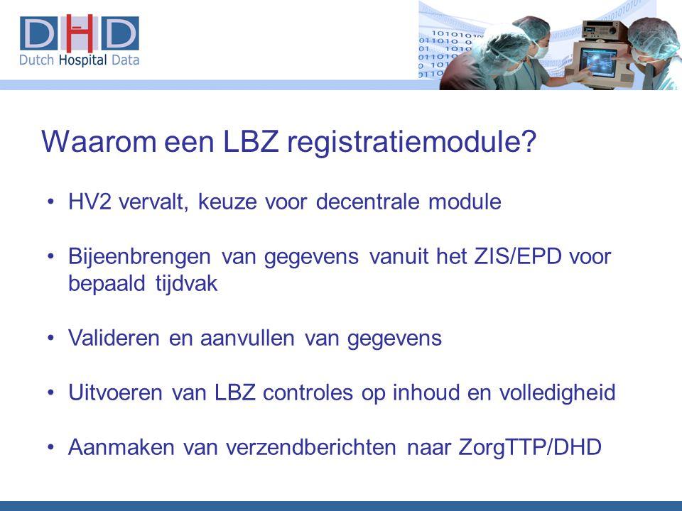 Waarom een LBZ registratiemodule