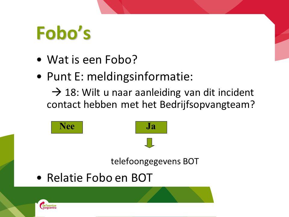 Fobo's telefoongegevens BOT Wat is een Fobo