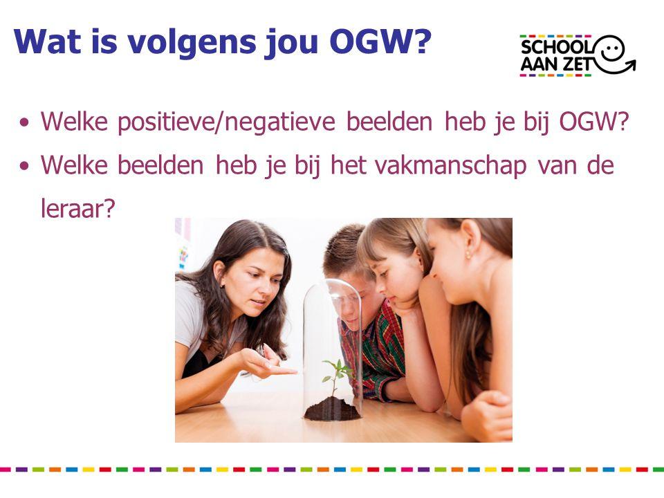 Wat is volgens jou OGW Welke positieve/negatieve beelden heb je bij OGW Welke beelden heb je bij het vakmanschap van de.