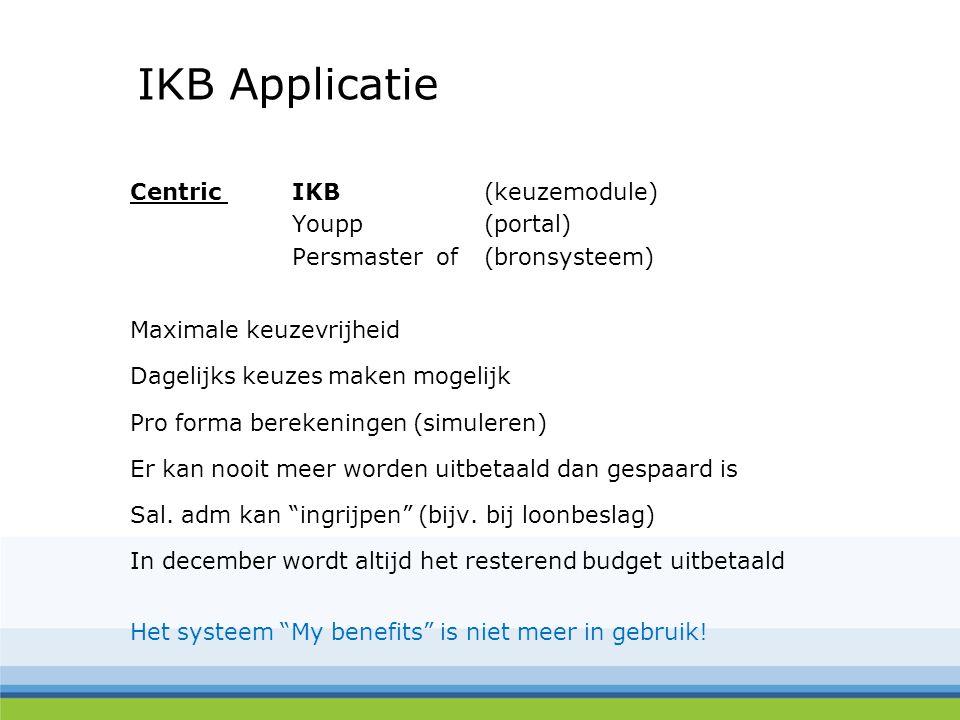 IKB Applicatie Centric IKB (keuzemodule) Youpp (portal)