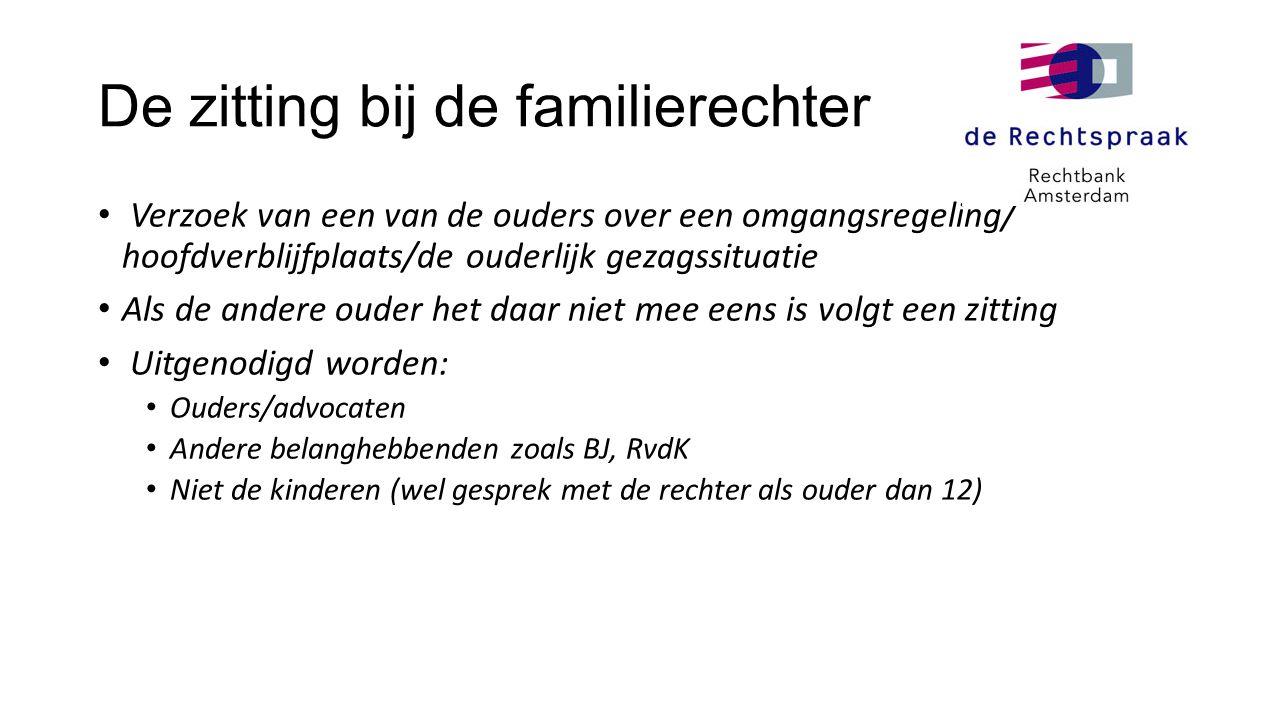 De zitting bij de familierechter