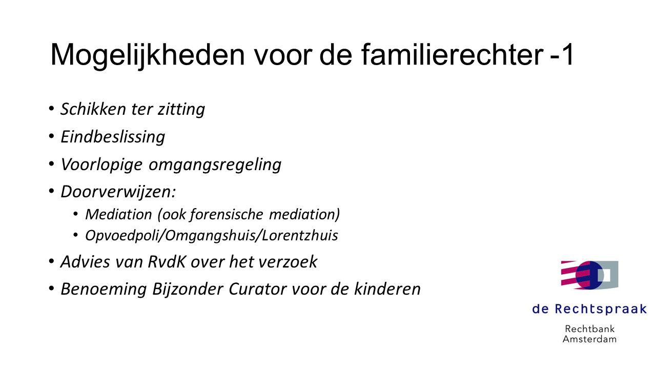 Mogelijkheden voor de familierechter -1