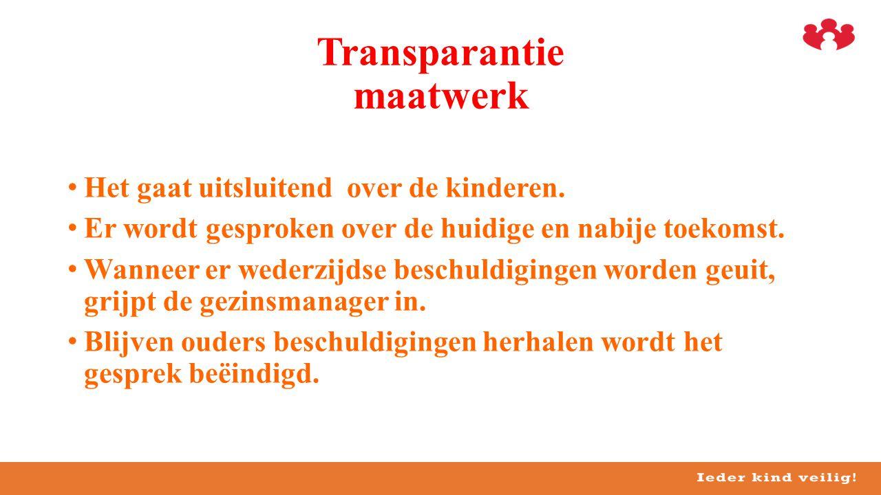 Transparantie maatwerk