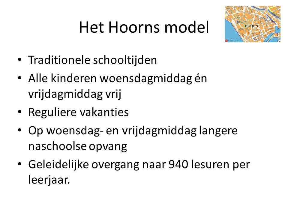 Het Hoorns model Traditionele schooltijden