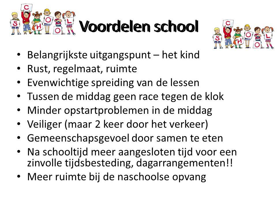 Voordelen school Voordelen school
