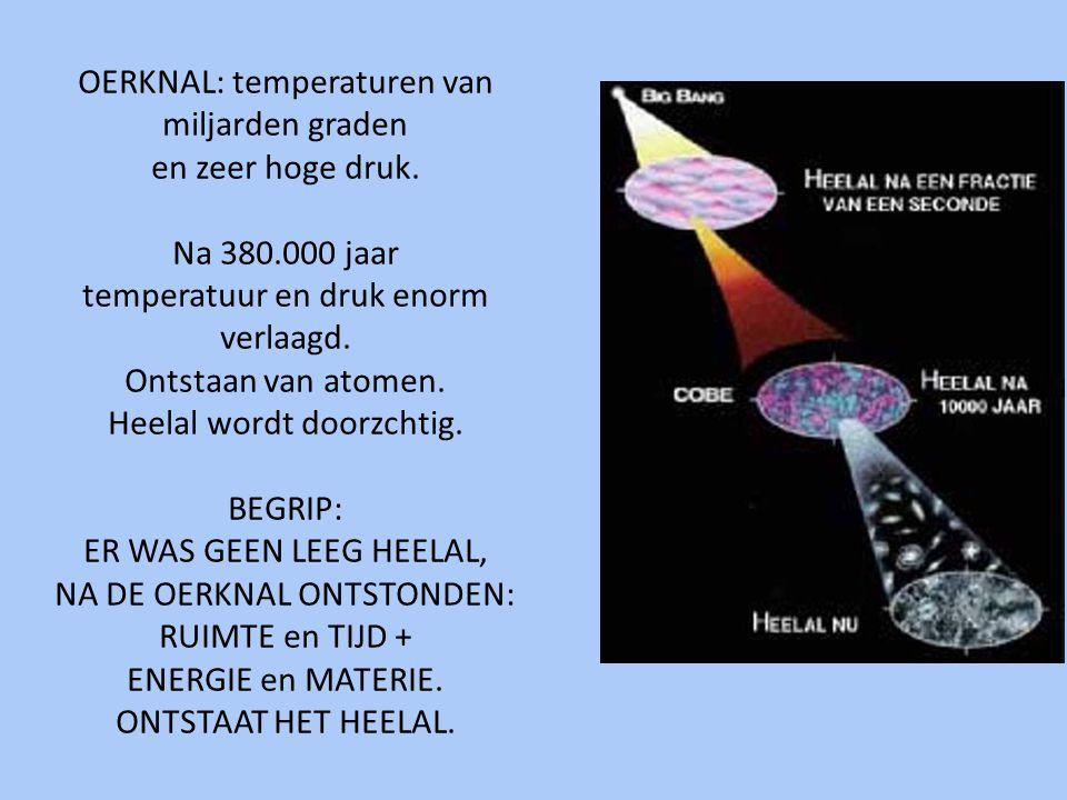 OERKNAL: temperaturen van miljarden graden en zeer hoge druk. Na 380