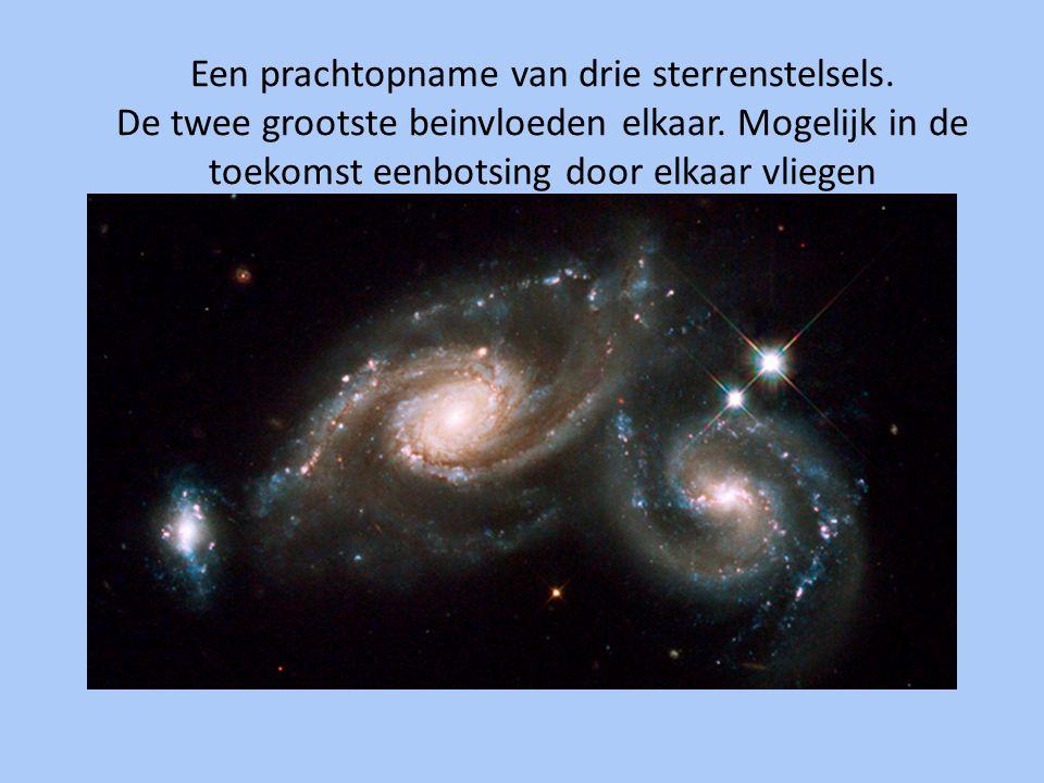 Een prachtopname van drie sterrenstelsels