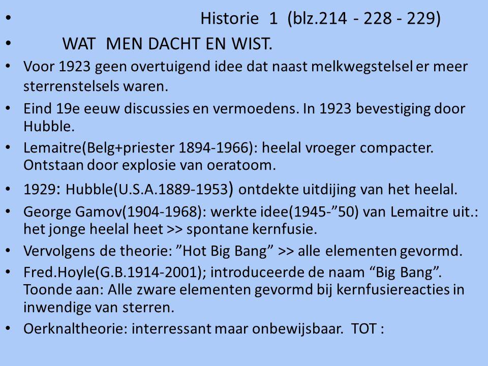 Historie 1 (blz.214 - 228 - 229) WAT MEN DACHT EN WIST.