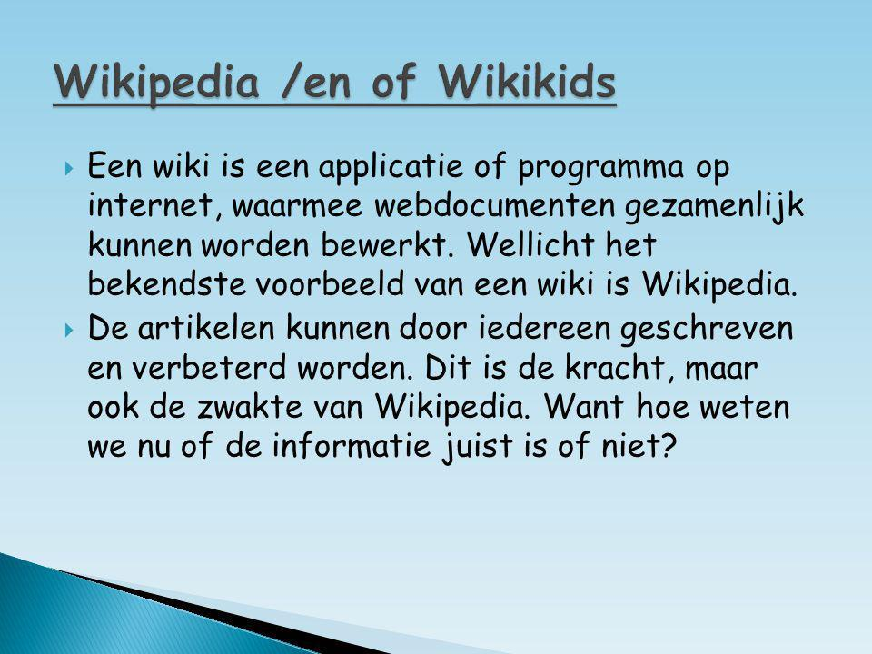 Wikipedia /en of Wikikids