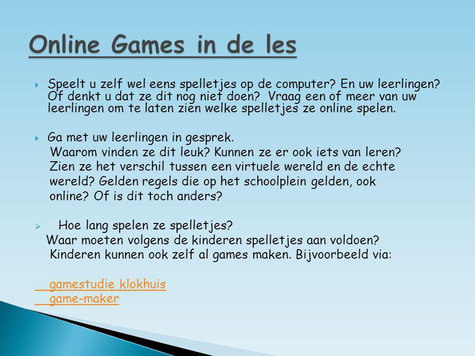 Online Games in de les