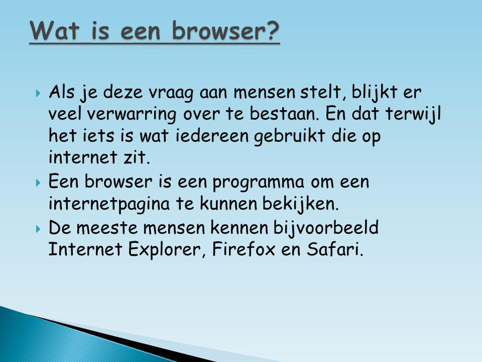 Wat is een browser