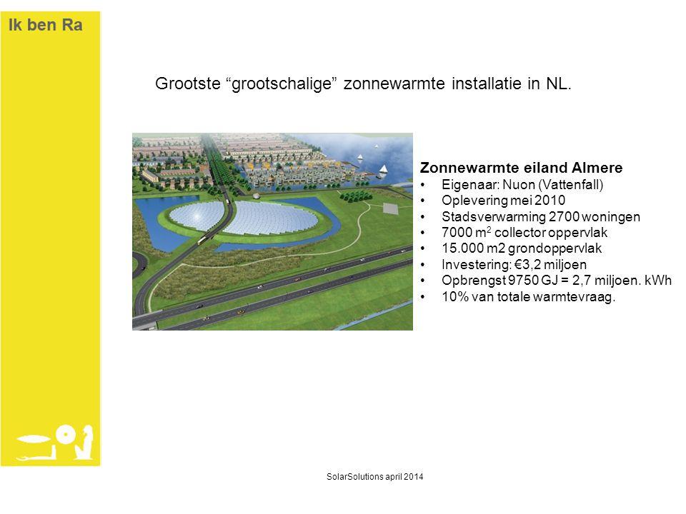 Grootste grootschalige zonnewarmte installatie in NL.