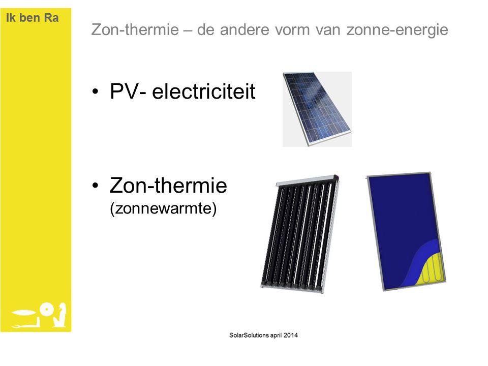 Zon-thermie – de andere vorm van zonne-energie