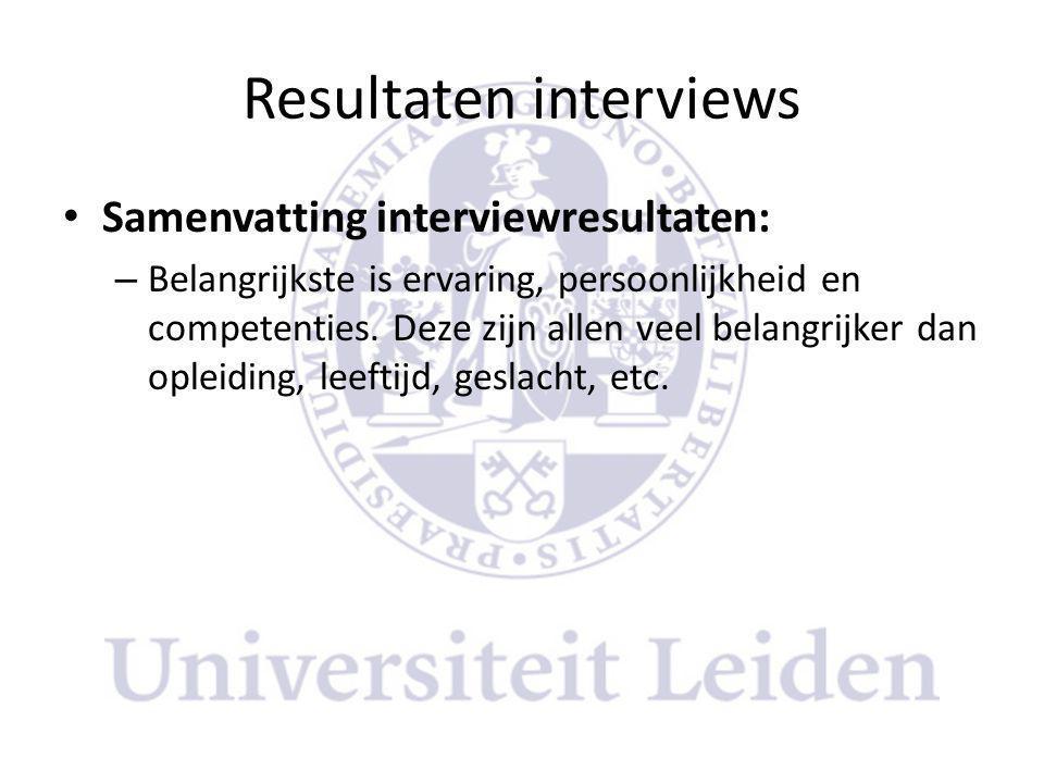 Resultaten interviews