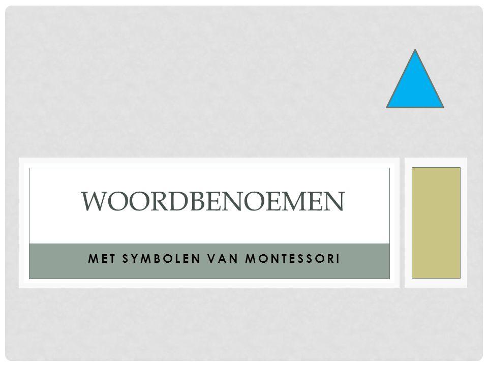 Met symbolen van Montessori
