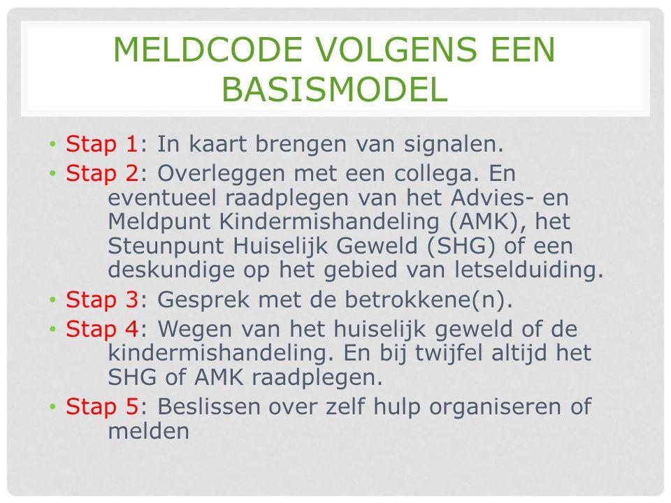 Meldcode volgens een basismodel