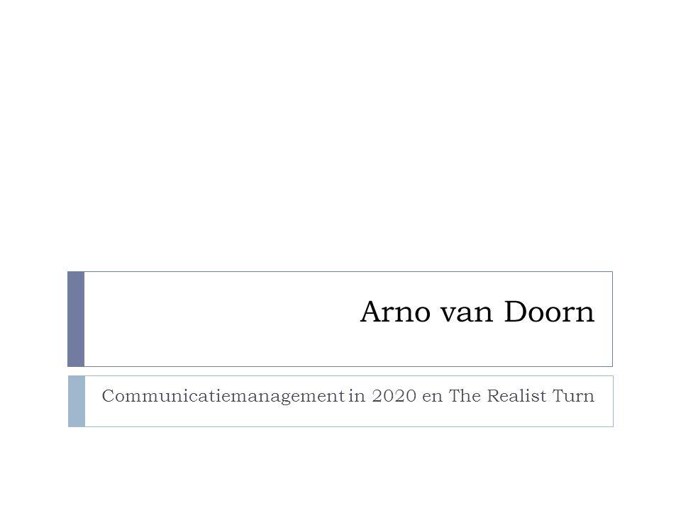 Communicatiemanagement in 2020 en The Realist Turn