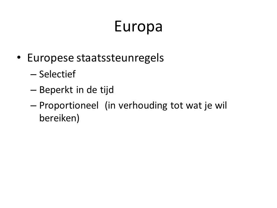 Europa Europese staatssteunregels Selectief Beperkt in de tijd