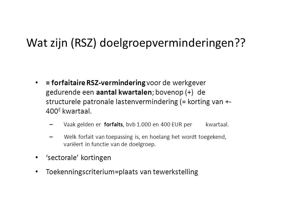 Wat zijn (RSZ) doelgroepverminderingen