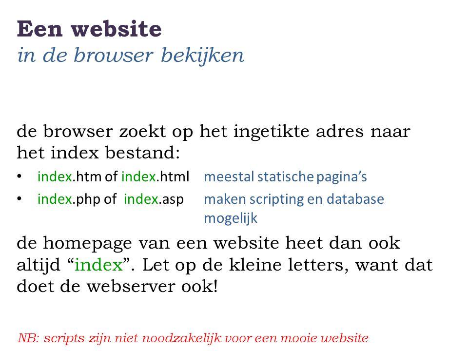 Een website in de browser bekijken