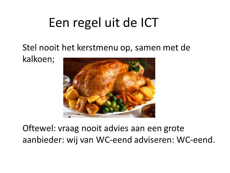 Een regel uit de ICT