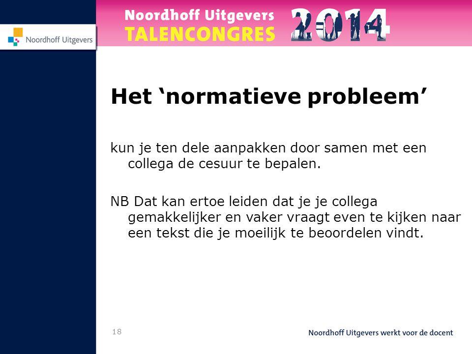 Het 'normatieve probleem'