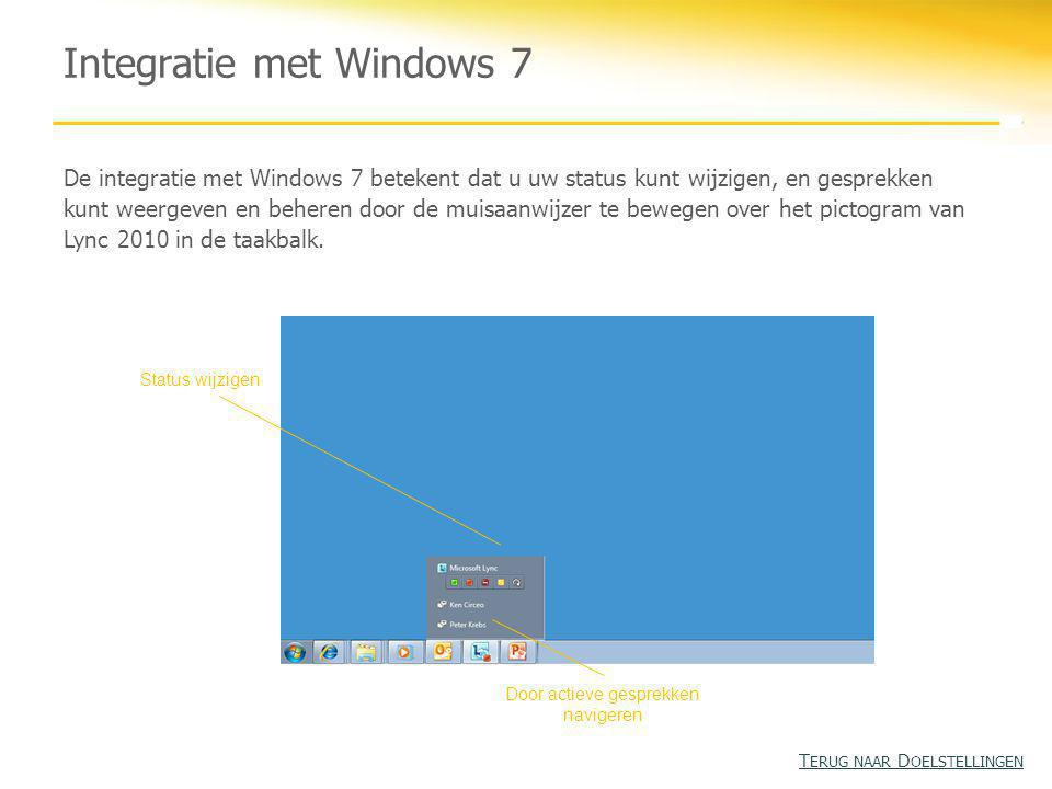 Integratie met Windows 7