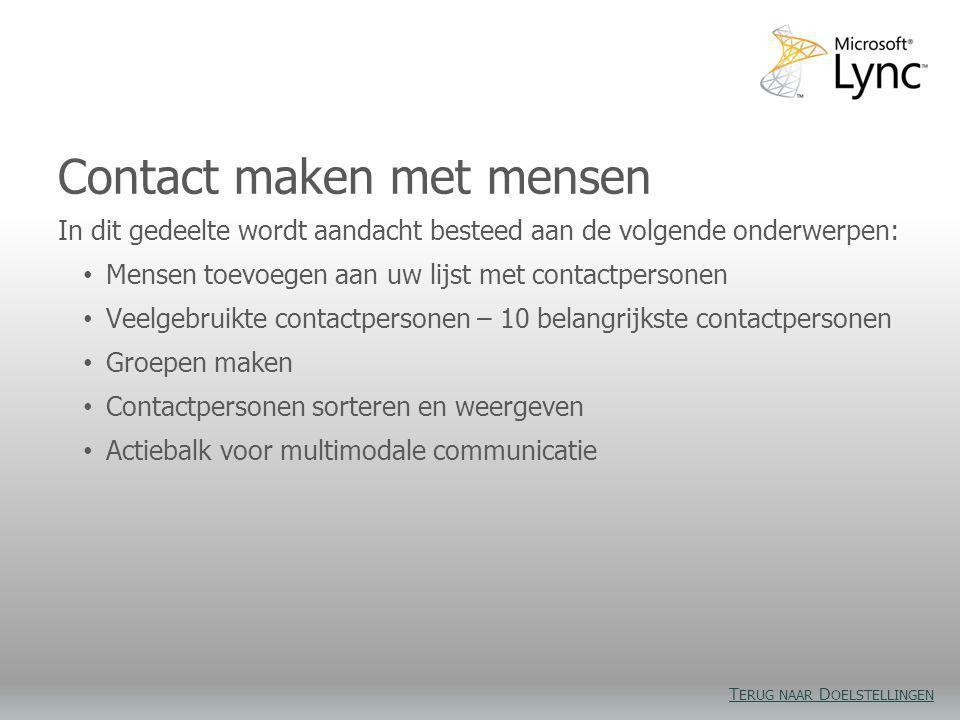 Contact maken met mensen