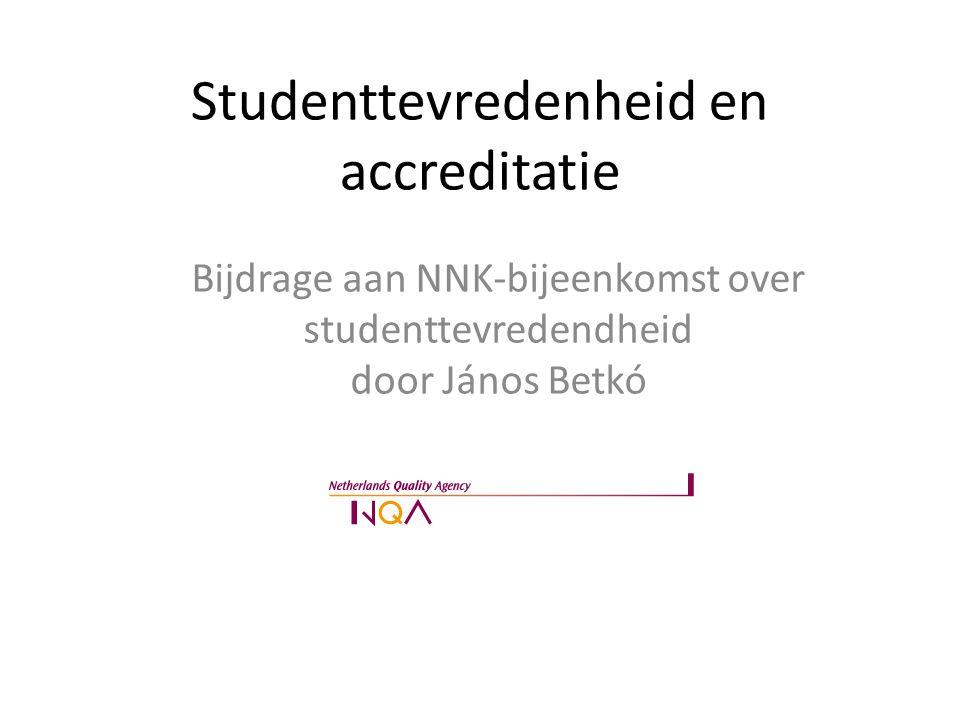Studenttevredenheid en accreditatie
