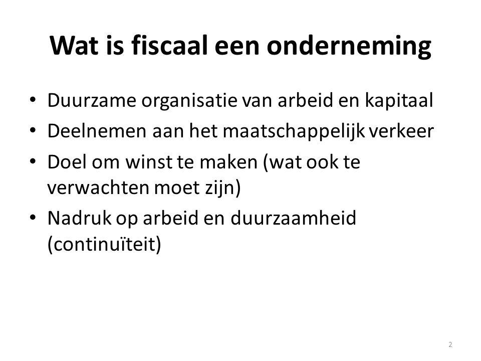 Wat is fiscaal een onderneming