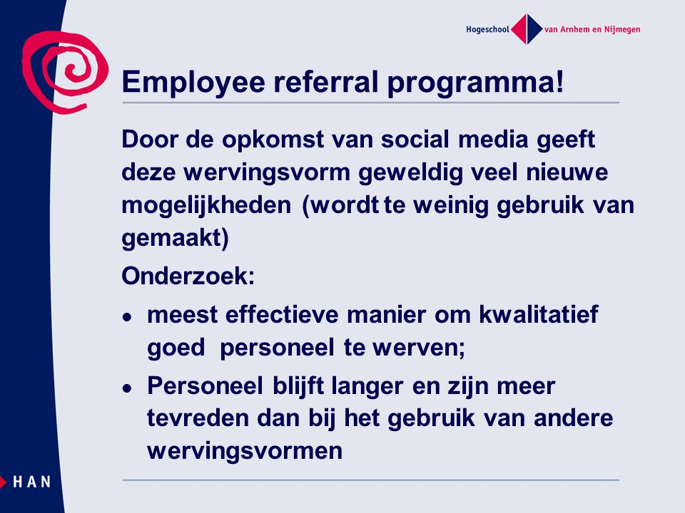 Employee referral programma!