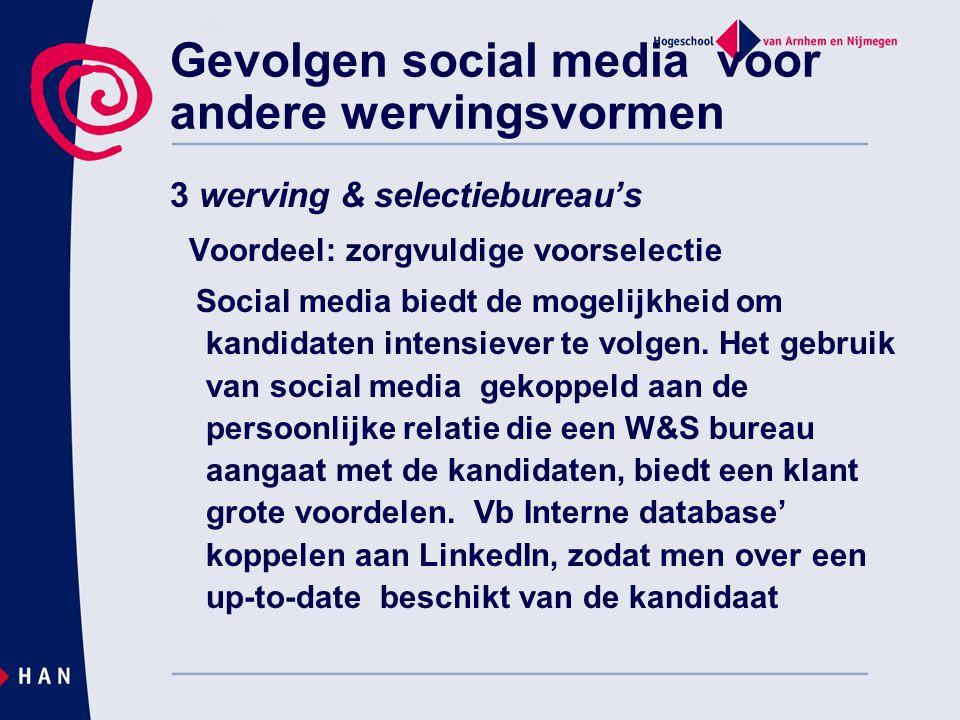 Gevolgen social media voor andere wervingsvormen