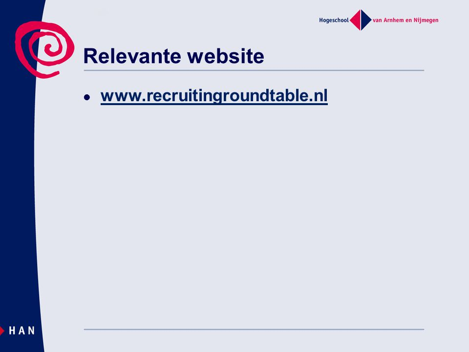 Relevante website www.recruitingroundtable.nl