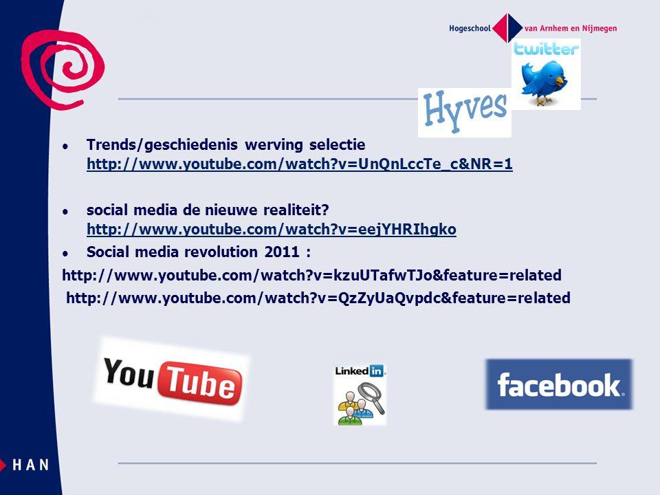 Trends/geschiedenis werving selectie http://www. youtube. com/watch