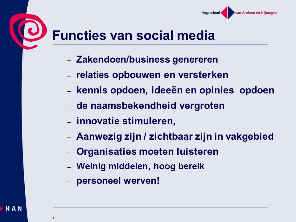 Functies van social media