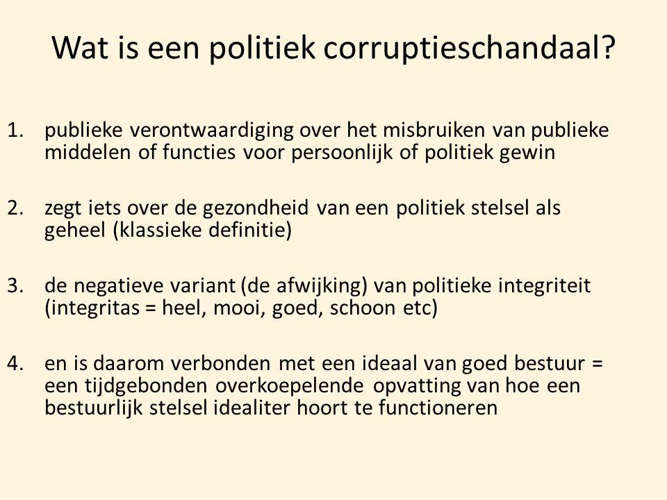 Wat is een politiek corruptieschandaal