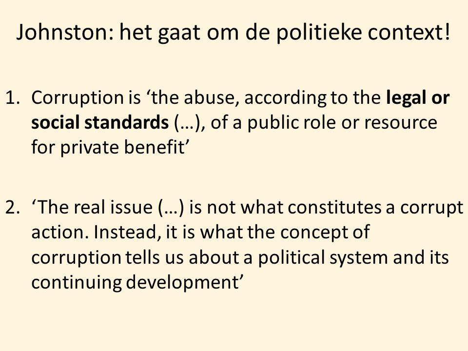 Johnston: het gaat om de politieke context!