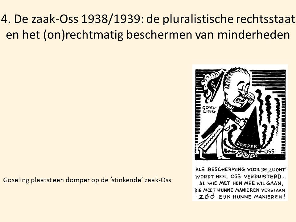 4. De zaak-Oss 1938/1939: de pluralistische rechtsstaat en het (on)rechtmatig beschermen van minderheden