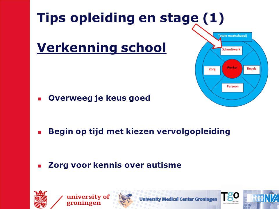 Tips opleiding en stage (1) Verkenning school