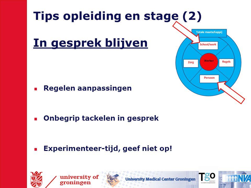 Tips opleiding en stage (2) In gesprek blijven