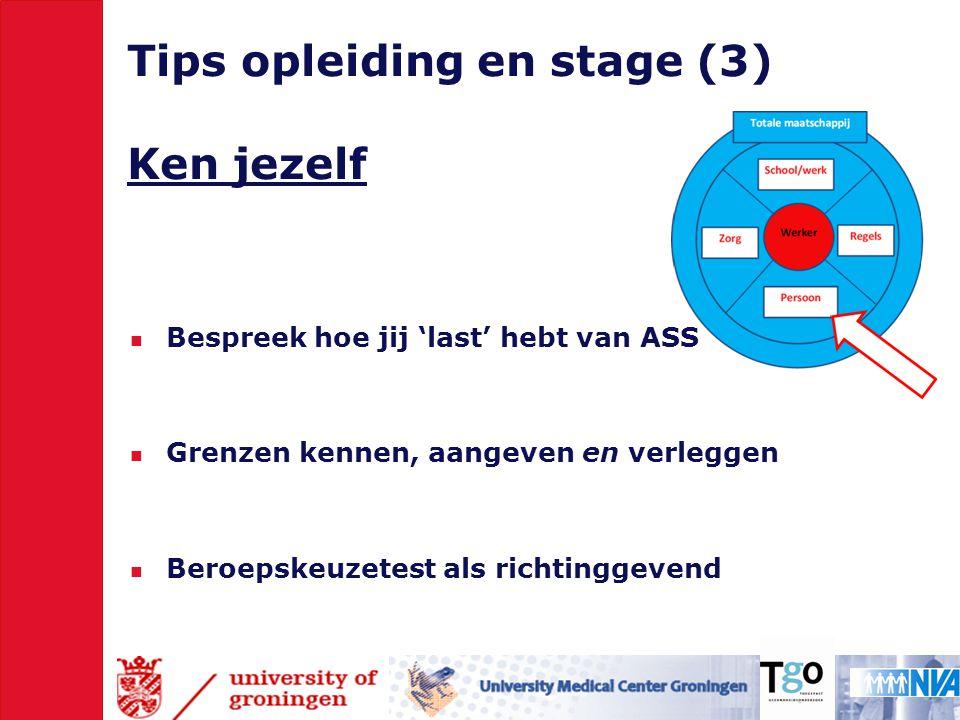 Tips opleiding en stage (3) Ken jezelf