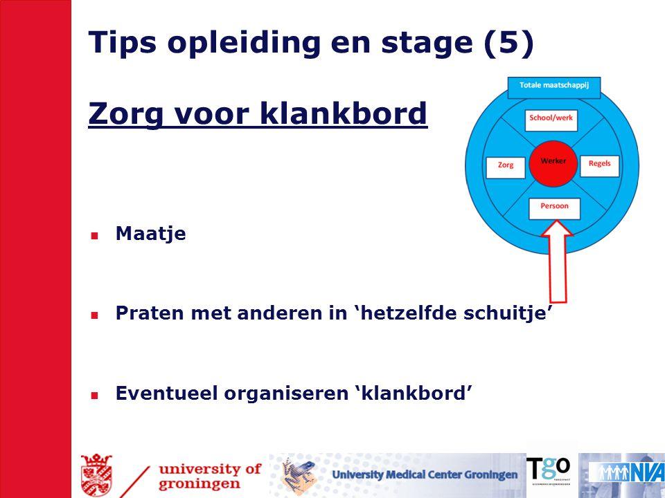 Tips opleiding en stage (5) Zorg voor klankbord