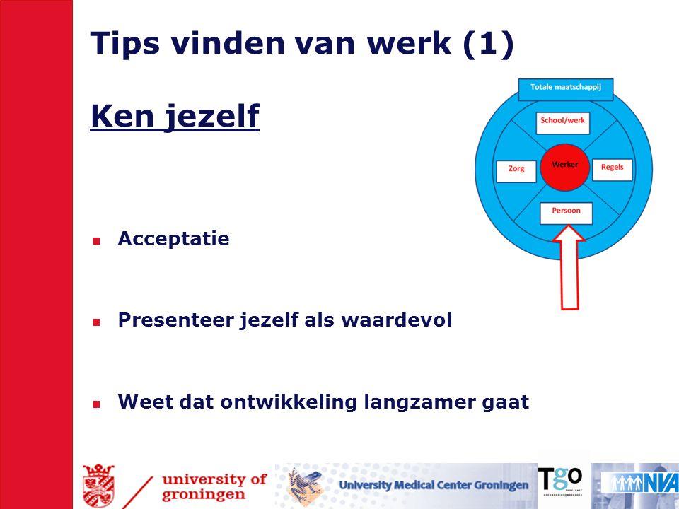 Tips vinden van werk (1) Ken jezelf