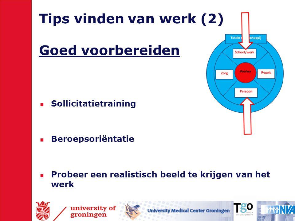 Tips vinden van werk (2) Goed voorbereiden
